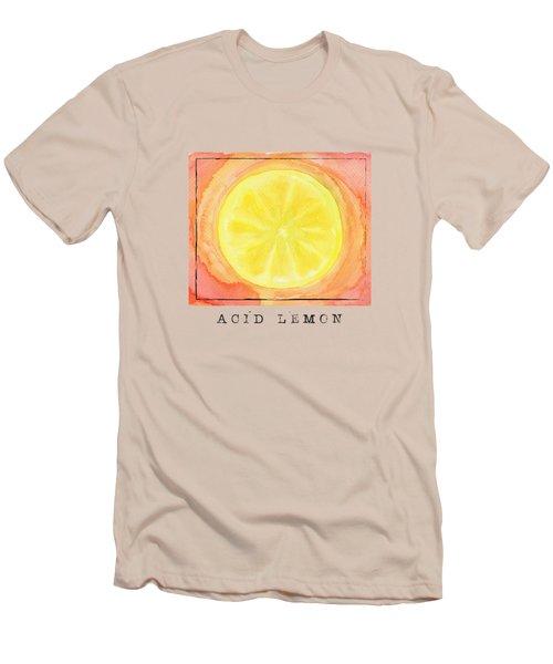 Acid Lemon Men's T-Shirt (Slim Fit) by Kathleen Wong