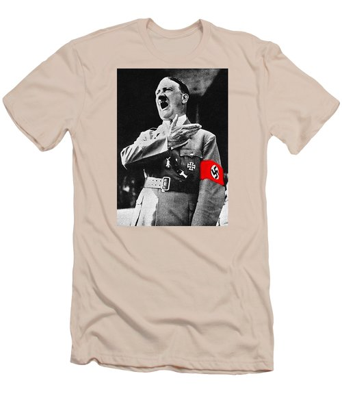 Adolf Hitler Ranting 1  Men's T-Shirt (Slim Fit) by David Lee Guss