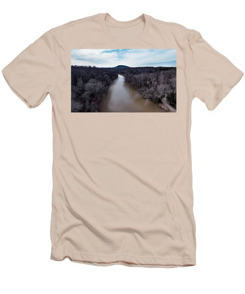 Aerial River View Men's T-Shirt (Athletic Fit)