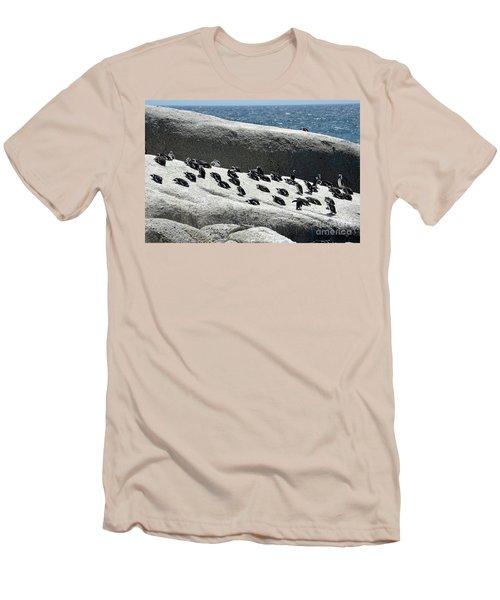 Men's T-Shirt (Slim Fit) featuring the digital art African Penguin 4 by Eva Kaufman