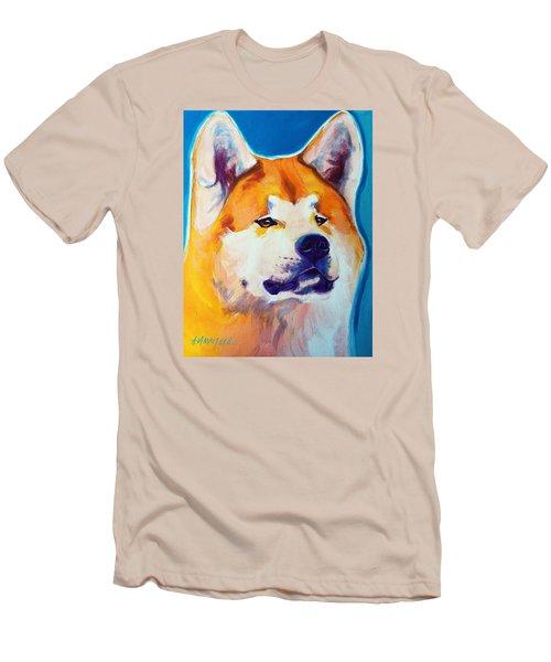 Akita - Apricot Men's T-Shirt (Athletic Fit)