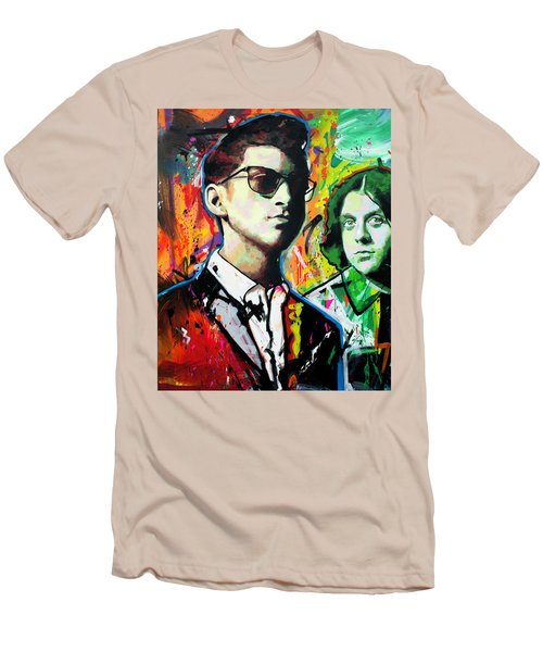 Men's T-Shirt (Slim Fit) featuring the painting Alex Turner by Richard Day