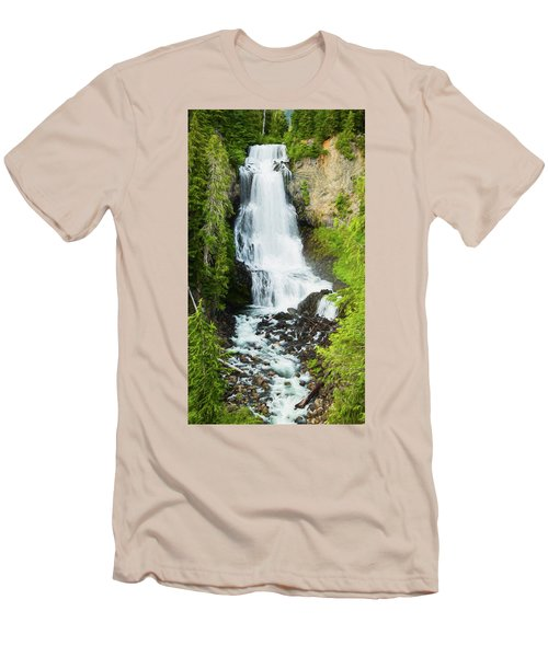 Men's T-Shirt (Slim Fit) featuring the photograph Alexander Falls - 2 by Stephen Stookey