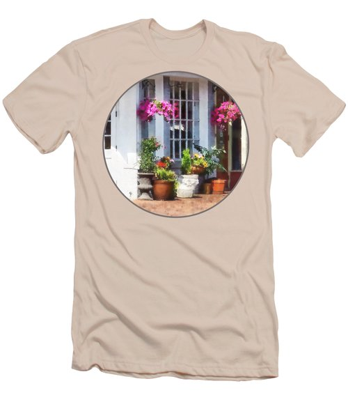 Alexandria Va - Corner Of King Street And S Alfred Men's T-Shirt (Slim Fit) by Susan Savad