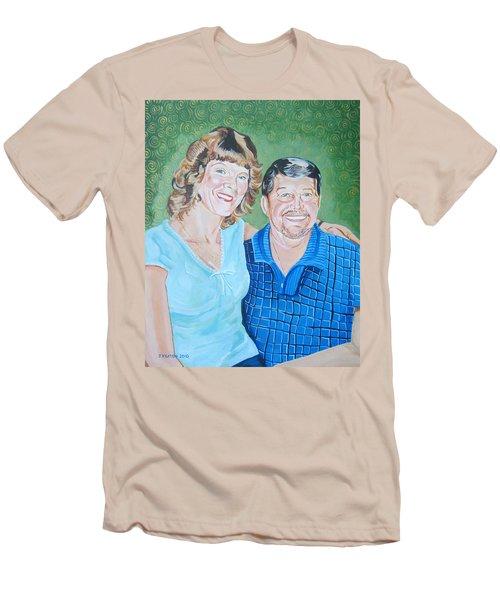 Alicia And Lee Men's T-Shirt (Slim Fit) by John Keaton
