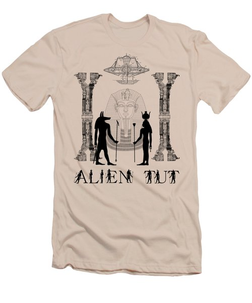 Alien King Tut Men's T-Shirt (Athletic Fit)