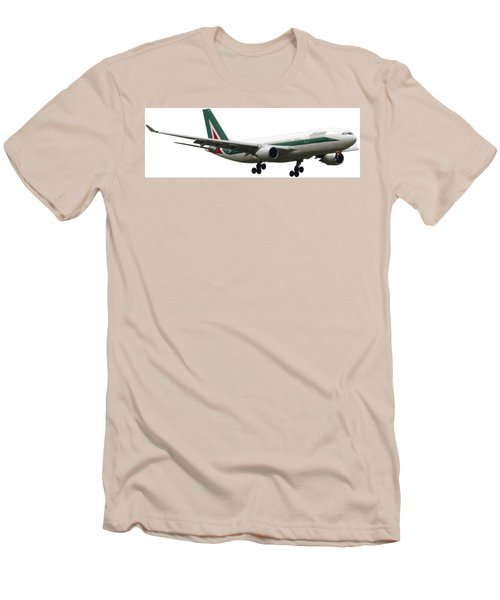 Alitalia, Airbus A330-202. Men's T-Shirt (Slim Fit) by Amos Dor