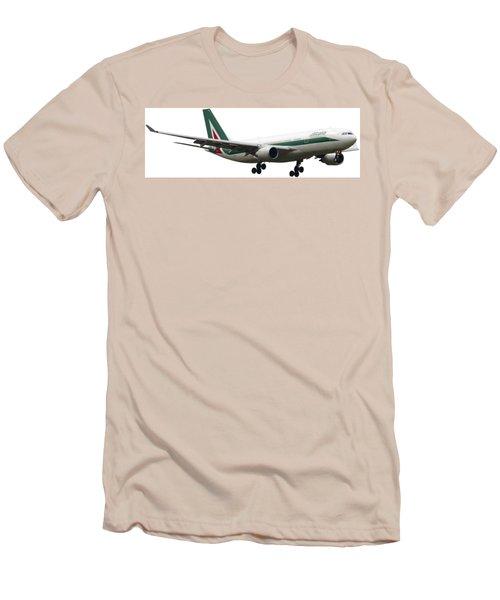 Alitalia, Airbus A330-202. Men's T-Shirt (Athletic Fit)