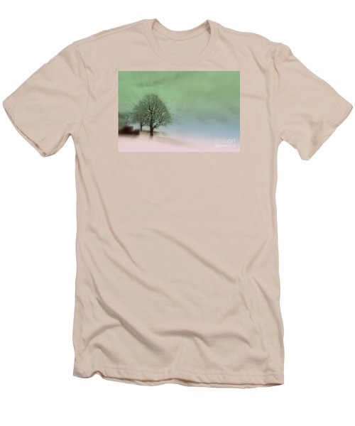Men's T-Shirt (Slim Fit) featuring the photograph Almost A Dream - Winter In Switzerland by Susanne Van Hulst