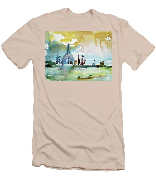 Along The Chao Phaya River Men's T-Shirt (Slim Fit) by Tom Simmons