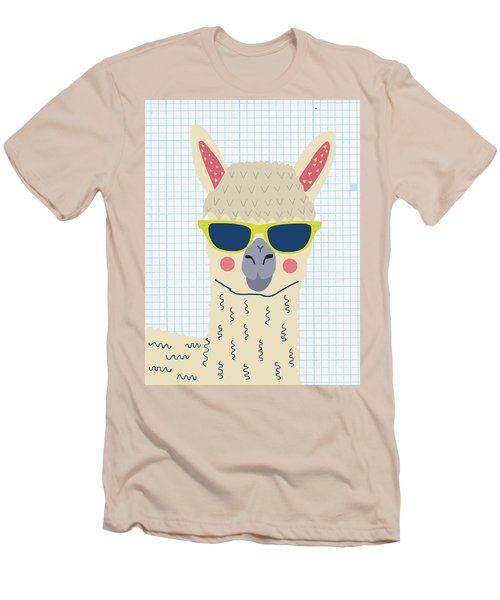 Alpaca Men's T-Shirt (Slim Fit) by Nicole Wilson