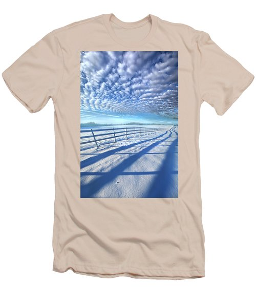 Men's T-Shirt (Slim Fit) featuring the photograph Always Whiter On The Other Side Of The Fence by Phil Koch