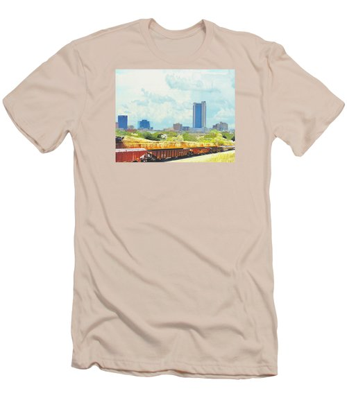 Amarillo Texas In The Spring Men's T-Shirt (Slim Fit) by Janette Boyd