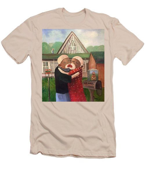 American Gothic The Monkey Lisa And The Holler Men's T-Shirt (Athletic Fit)