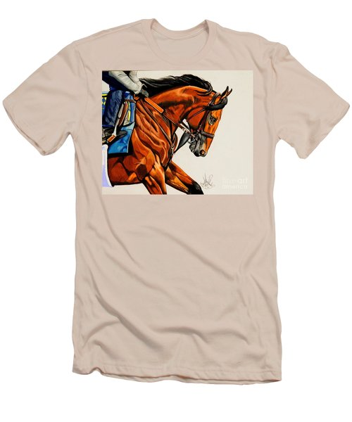 American Pharoah - Triple Crown Winner In White Men's T-Shirt (Athletic Fit)