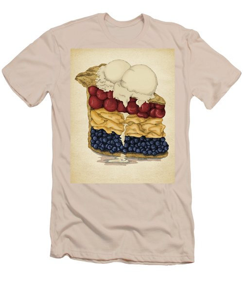 Men's T-Shirt (Slim Fit) featuring the drawing American Pie by Meg Shearer