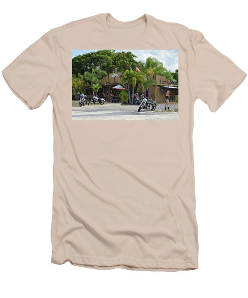 Men's T-Shirt (Athletic Fit) featuring the photograph American Roadhouse by Laura Fasulo