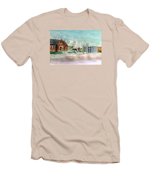 Amesbury Public Library Circa 1920 Men's T-Shirt (Athletic Fit)