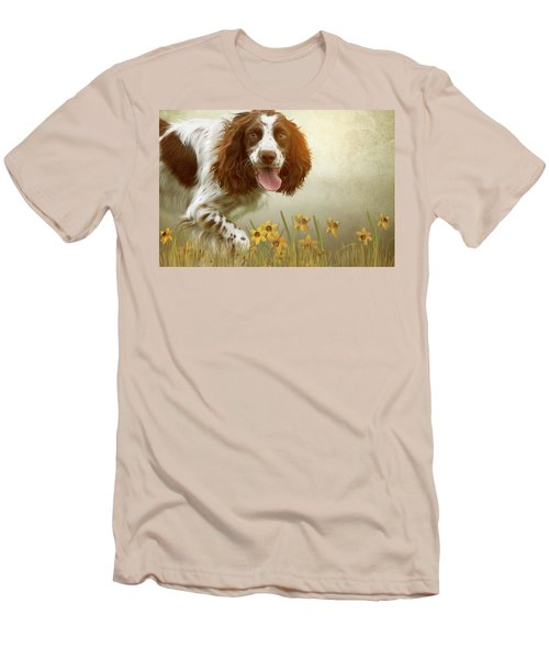 Amongst The Flowers Men's T-Shirt (Athletic Fit)