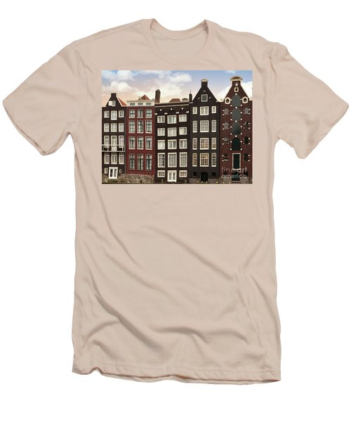 Amsterdam Architectre At Twilight Men's T-Shirt (Athletic Fit)