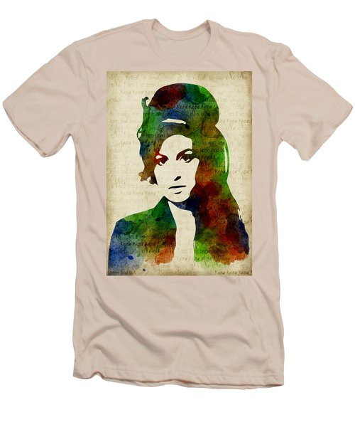 Amy Winehouse Watercolor Men's T-Shirt (Athletic Fit)