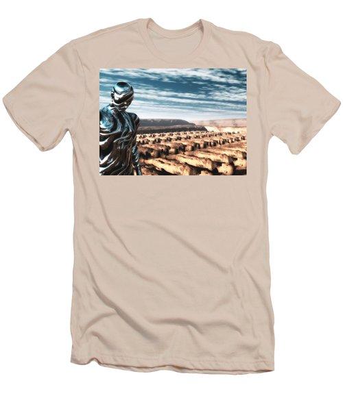 Men's T-Shirt (Slim Fit) featuring the digital art An Untitled Future by John Alexander