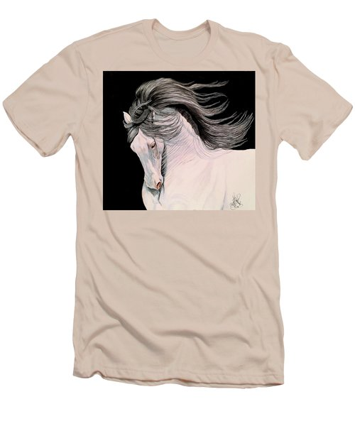 Andalusian In Color Pencil Men's T-Shirt (Slim Fit) by Cheryl Poland