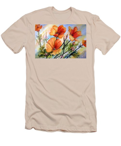 Antelope Valley Poppy Fields Men's T-Shirt (Athletic Fit)