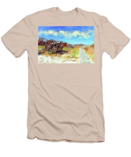 Men's T-Shirt (Athletic Fit) featuring the digital art Antietam Under Blue Skies  by Lois Bryan