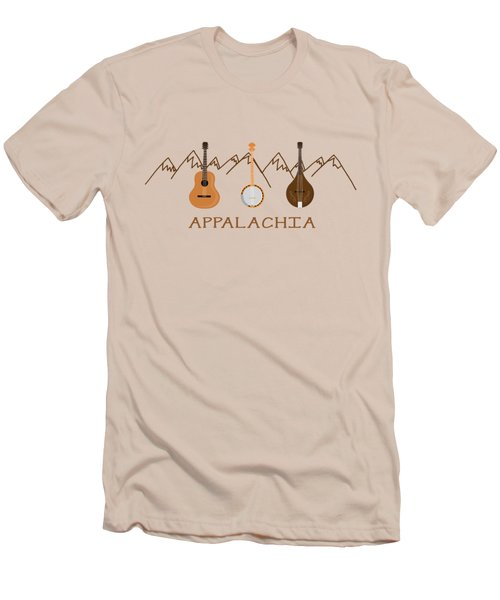 Appalachia Mountain Music Men's T-Shirt (Slim Fit) by Heather Applegate