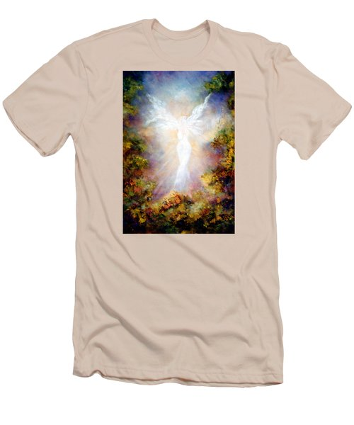 Men's T-Shirt (Slim Fit) featuring the painting Apparition II by Marina Petro