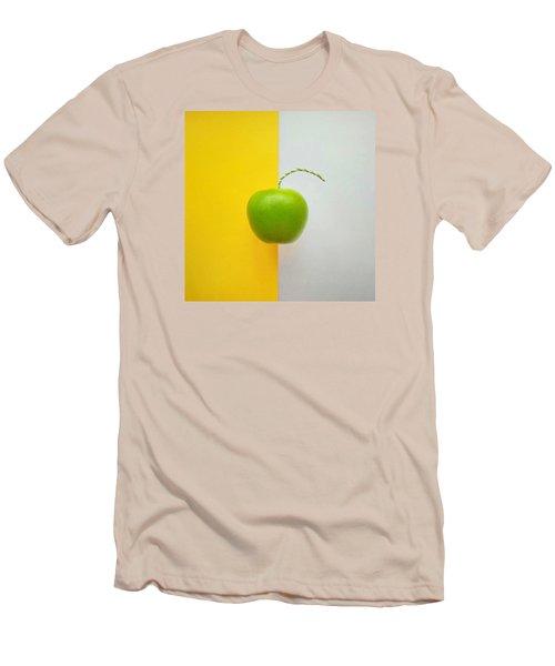 Green Apple Men's T-Shirt (Slim Fit) by Ann Foo