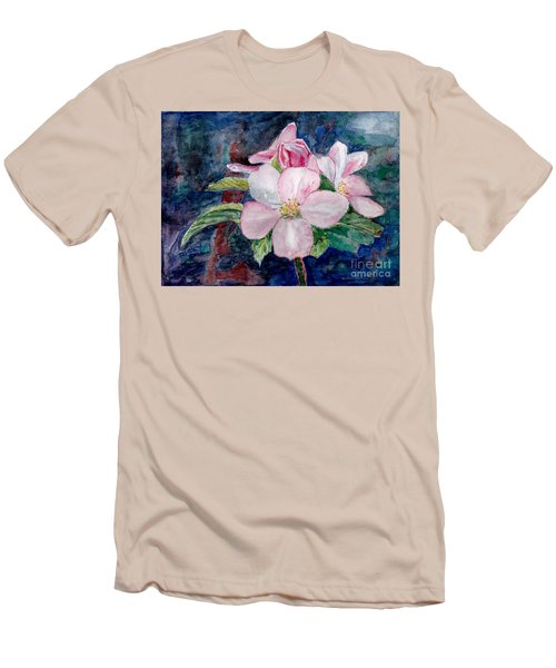 Apple Blossom - Painting Men's T-Shirt (Slim Fit) by Veronica Rickard