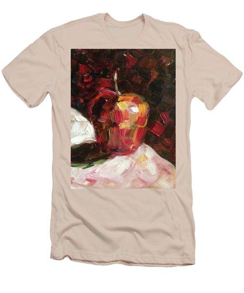 Apple  Men's T-Shirt (Slim Fit) by Roxy Rich