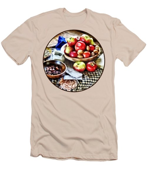 Apples And Nuts Men's T-Shirt (Slim Fit) by Susan Savad