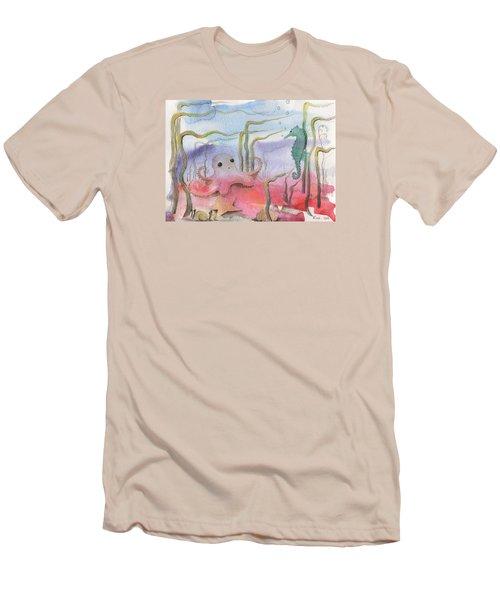 Aquatic Bliss Men's T-Shirt (Athletic Fit)