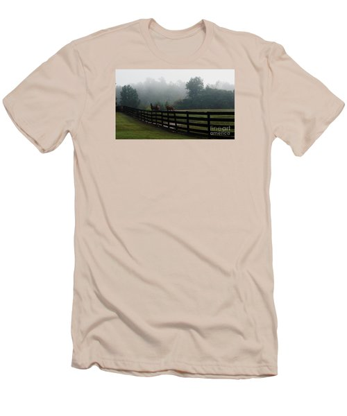 Arabian Horse Landscape Men's T-Shirt (Athletic Fit)