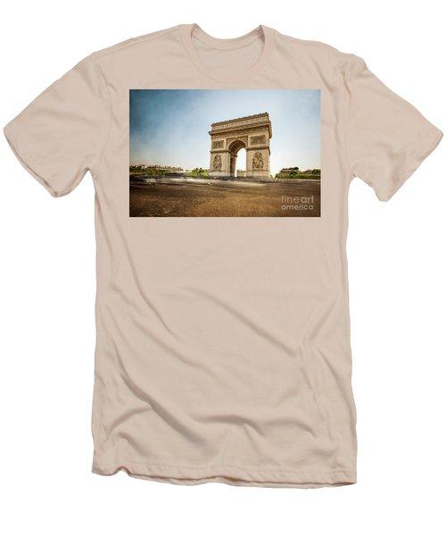 Men's T-Shirt (Slim Fit) featuring the photograph Arc De Triumph by Hannes Cmarits