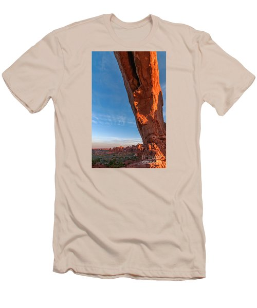 Arch View Men's T-Shirt (Slim Fit) by Sharon Seaward