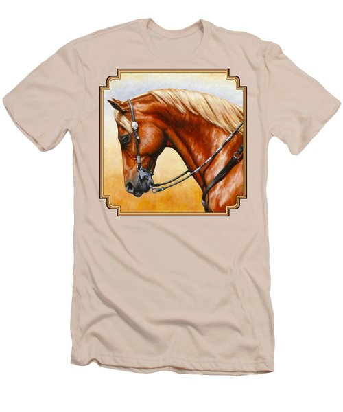 Precision - Horse Painting Men's T-Shirt (Slim Fit) by Crista Forest