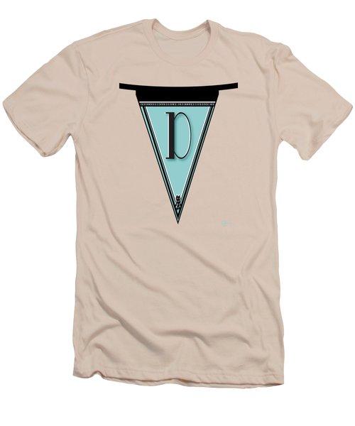 Pennant Deco Blues Banner Initial Letter D Men's T-Shirt (Athletic Fit)