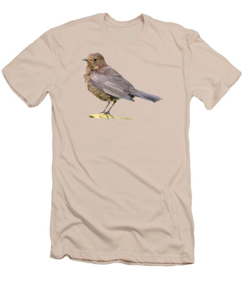 Young Blackbird  Men's T-Shirt (Slim Fit) by Bamalam  Photography