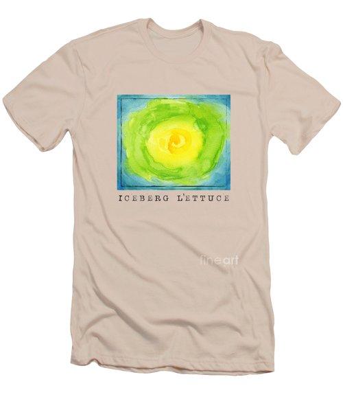 Abstract Iceberg Lettuce Men's T-Shirt (Slim Fit) by Kathleen Wong