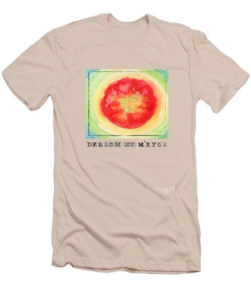 Fresh Tomato Men's T-Shirt (Slim Fit) by Kathleen Wong