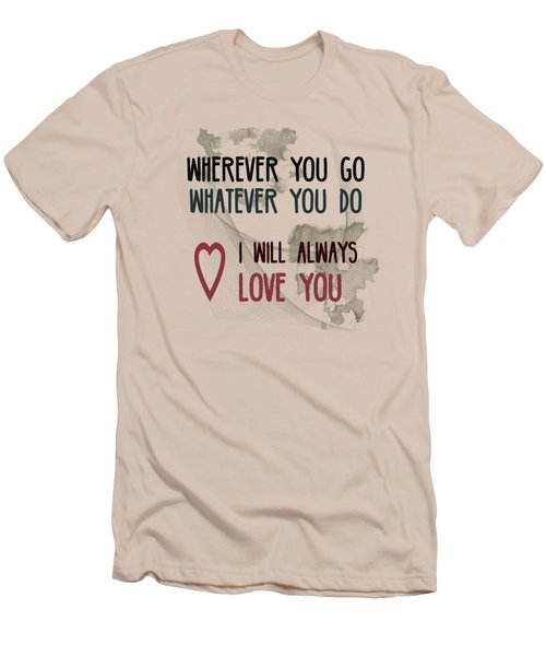 Wherever You Go Men's T-Shirt (Slim Fit) by Jutta Maria Pusl