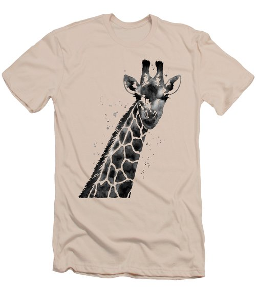 Giraffe In Black And White Men's T-Shirt (Athletic Fit)