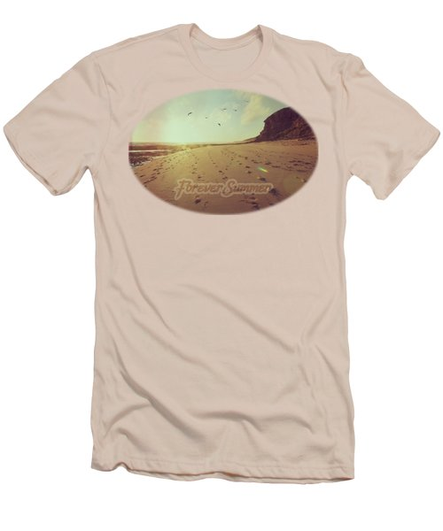 Men's T-Shirt (Slim Fit) featuring the photograph Forever Summer 9 by Linda Lees