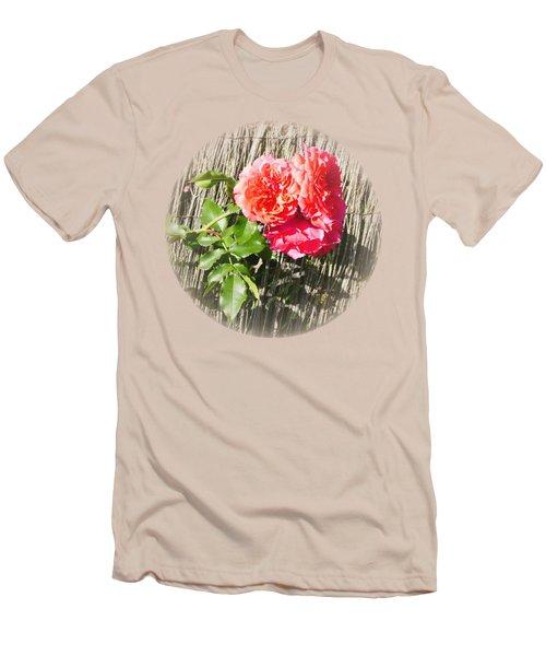 Floral Escape Men's T-Shirt (Slim Fit) by Ivana Westin