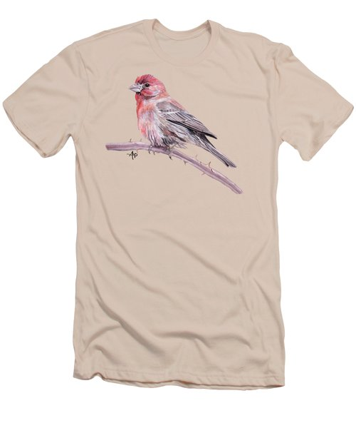 House Finch Men's T-Shirt (Slim Fit) by Angeles M Pomata
