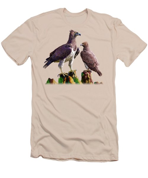 Martial Eagles Men's T-Shirt (Slim Fit) by Anthony Mwangi